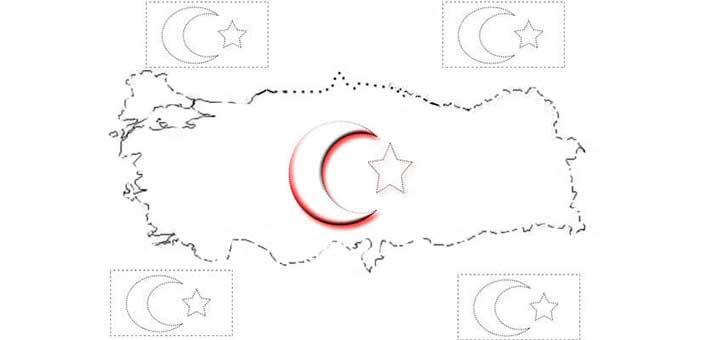 Türk Bayrağı Boyama Kağıdı çalışması Blog Genel Bilgi