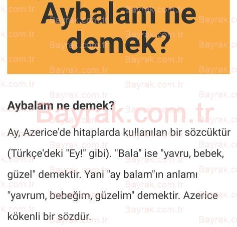 Aybalam Ne Demektir? - Blog - Türkçe Sözlük